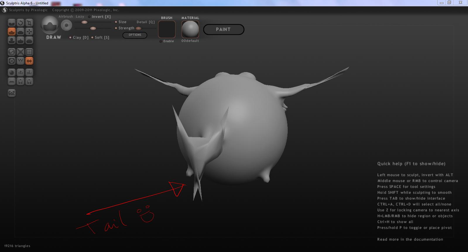 Blender + Sculptris + Wings3D + Google Sketchup + Poser